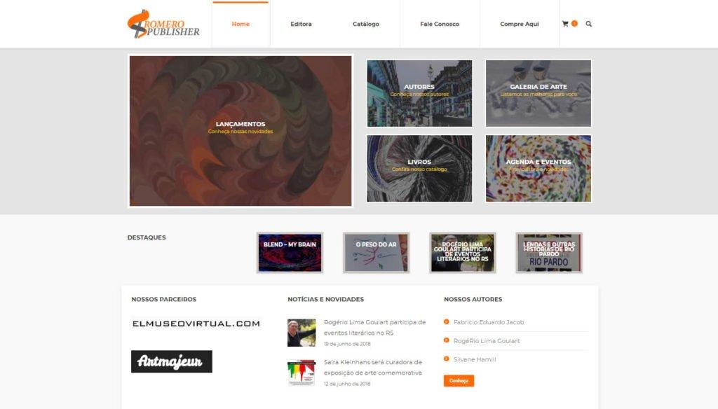 fbb42c742 Criação de Loja Virtual Sromero Publisher